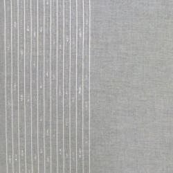 Tissu Smart Blanc Fils Argente