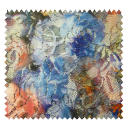 Tissu Dentelle Multicolore