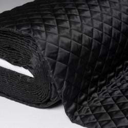 Tissu Doublure Matelasse Noir L150