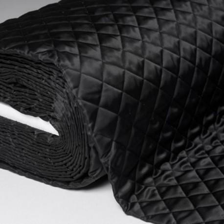 Tissu Doublure Matelasse Noir