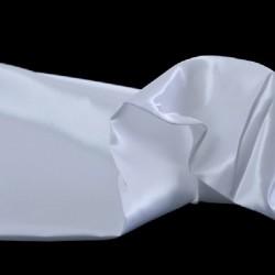 Tissu Satin Uni Blanc L150