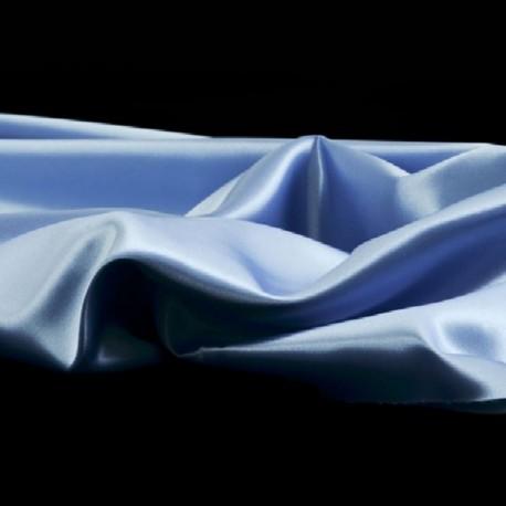 Tissu Satin Uni Bleu Ciel L150