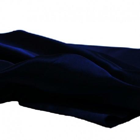 Tissu Satin Uni Marine L150