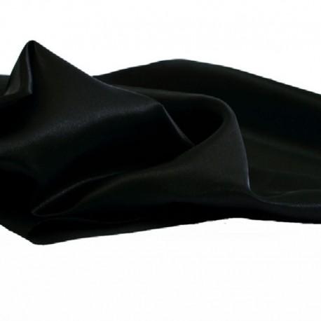 Tissu Satin Uni Noir L150