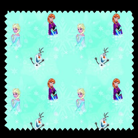 Tissu Reine Des Neiges Fond Turquoise