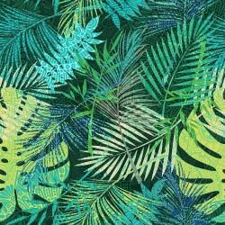 Tissu Mangrove Enduit Vert L155