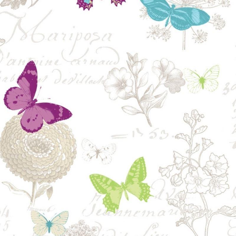 Tissu Butterfly Enduit Blanc
