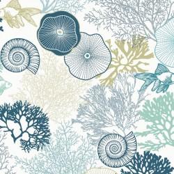 Tissu Adriatique Serge Bleu L160