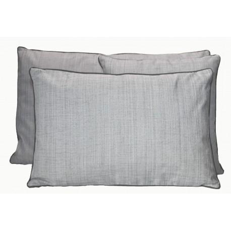 Housse de Coussin Grimaud Blanc Noir 40x60 cm