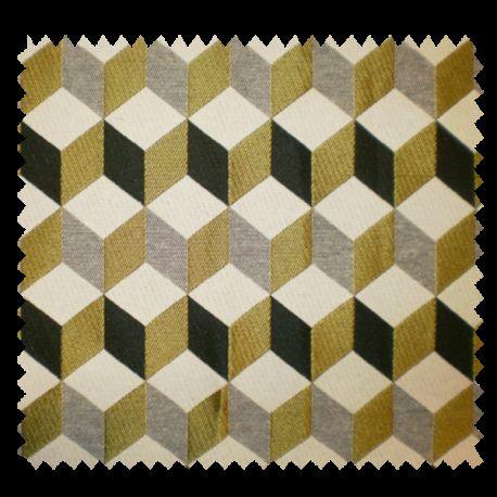 tissu jacquard gustave absinthe tissus des ursules. Black Bedroom Furniture Sets. Home Design Ideas