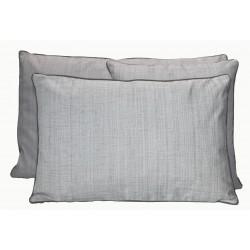 Housse de Coussin Grimaud Blanc Noir 45x45 cm