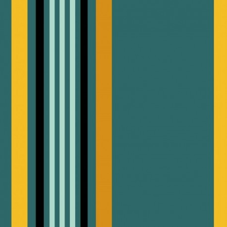 Tissu Greg Coton Enduit Teflon Vert