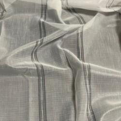 Tissu Voile Sidney Lurex Blanc Gris