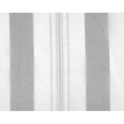 Tissu Elsa Anthracite Blanc