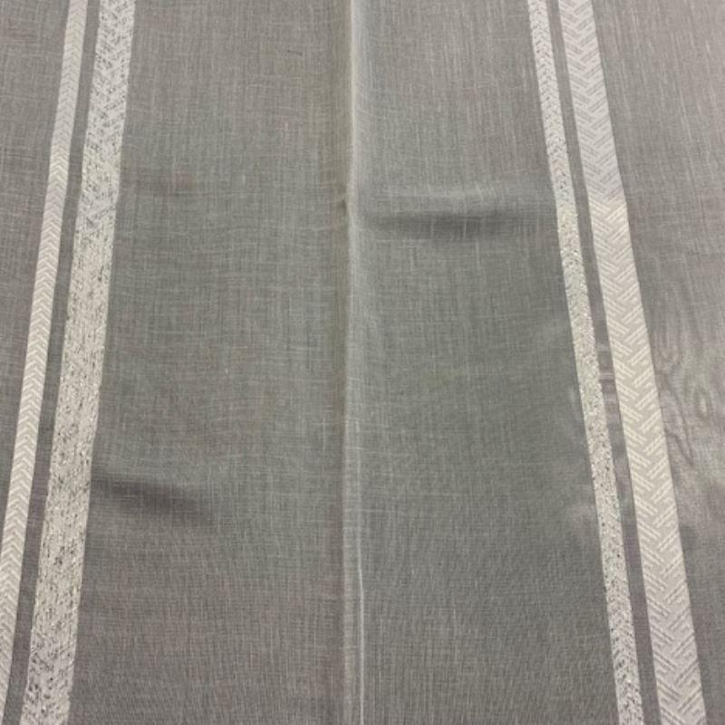 Tissu Etamine Luxor Lurex Blanc