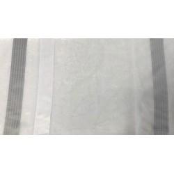 Tissu Etamine Rayure Jacq. Noa Blanc