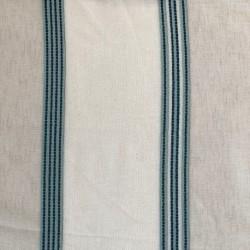 Tissu Etamine Club Rayures Aqua
