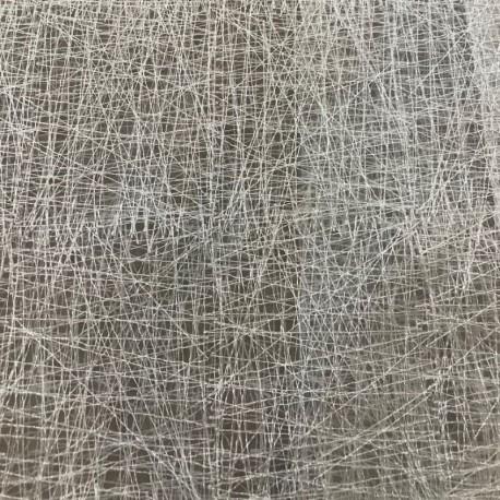 Tissu Voilage Brodé Grillage Blanc