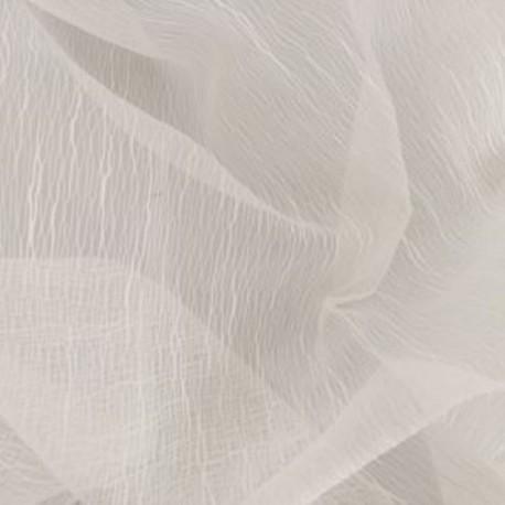 Tissu Voilage Jacquard Uni Gloss Blanc