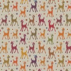 Tissu Bambi Toile Orange