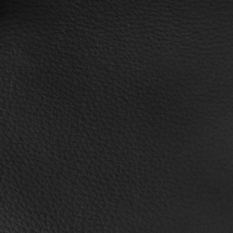 Tissu Cannes Simili Cuir Noir