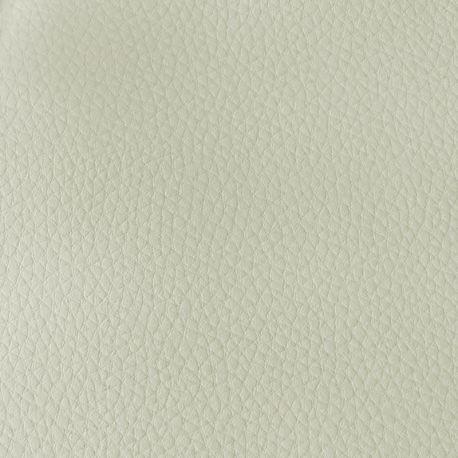 Tissu Cannes Simili Cuir Blanc Cassé