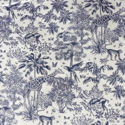 Tissu Gazelle Imprimé Bleu