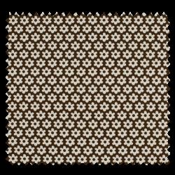 Tissu Paquerette Chocolat
