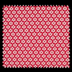 Tissu Paquerette Rouge