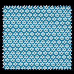 Tissu Paquerette Turquoise
