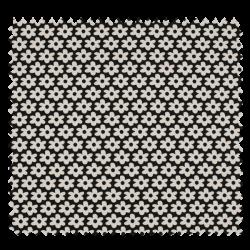 Tissu Paquerette Noire