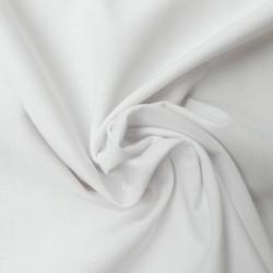 Tissu Coton Bio Uni Blanc