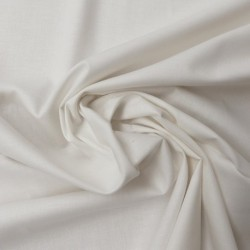 Tissu Coton Bio Uni Ecru