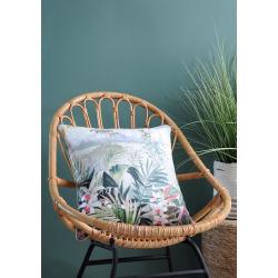 Housse de Coussin Orchidée Vert