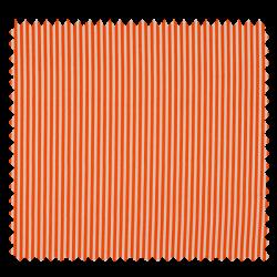 Tissu Rayé Orange Blanc