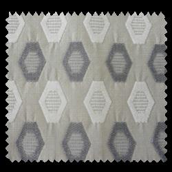 Tissu Nentosa Losange Blanc Et Gris