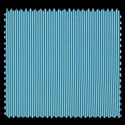 Tissu Coton Imprimé Rayé Turquoise Blanc