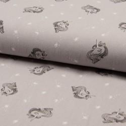 Tissu Jenny Imprimé Licorne Sable