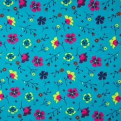 Tissu Folk Floral Fleur