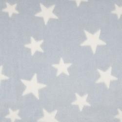 Tissu Polaire Etoile Bleu blanc