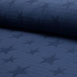 Tissu Jacquard Double Gaze Etoile Jeans