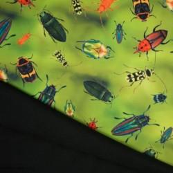 Tissu Soft Shell Imprimé Insecte