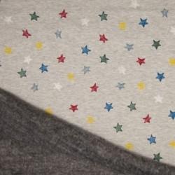 Tissu Jersey Molleton Imprimé Etoile Multico