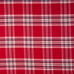 Tissu Coton Gratté Ecossais Rouge