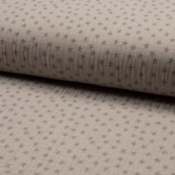 Tissu Triple Gaze Etoile Sable