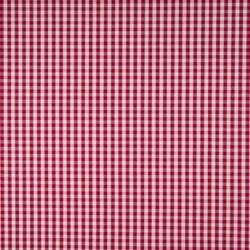 Tissu Vichy Fluide Rouge