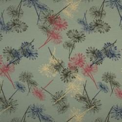 Tissu Jersey Bio Fleur Menthe