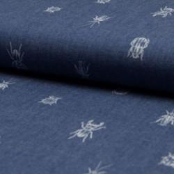 Tissu Chambrai Imprimé Insecte
