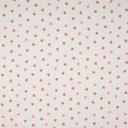 Tissu Jersey Imprimé Fluo Fraise Rose