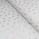 Tissu Popeline Imprimé Foil Pois Gold